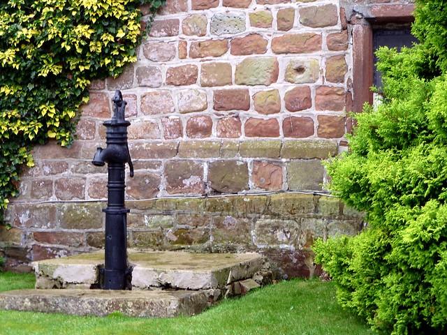 plinth course at Drumburgh Castle