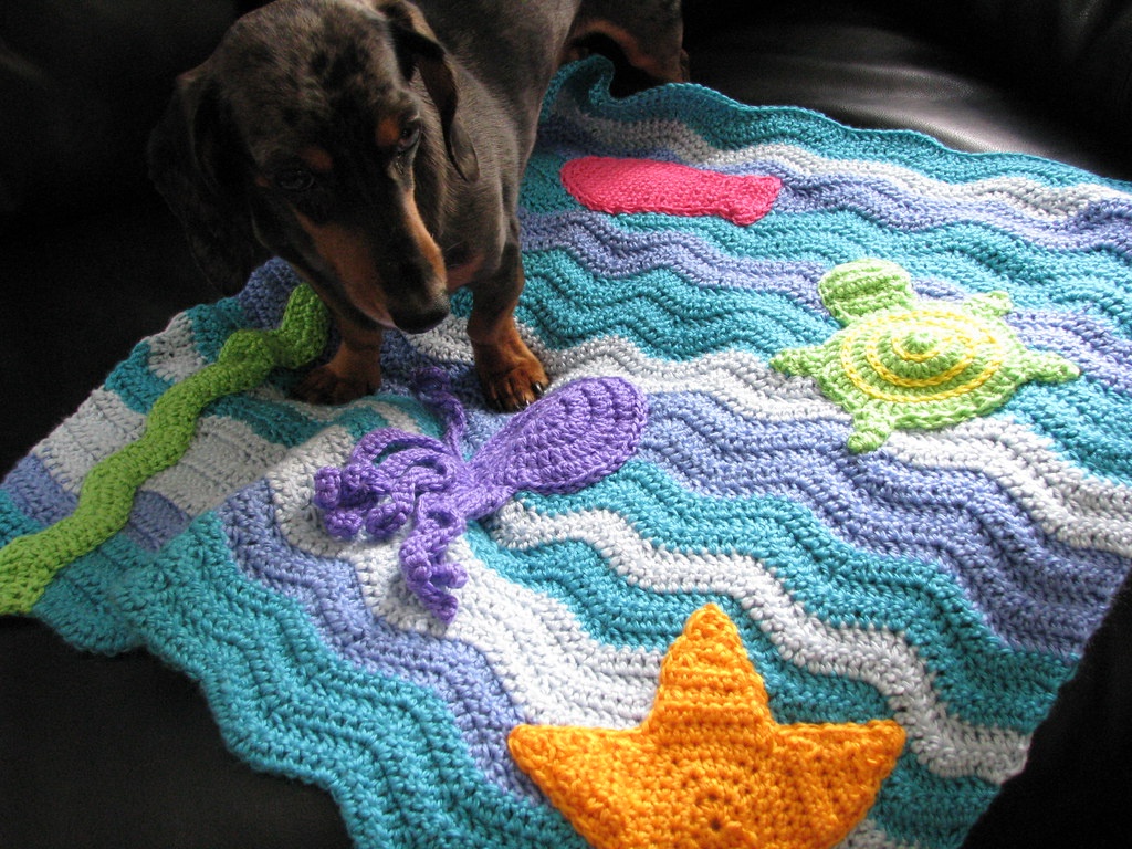 Crochet Blanket Quot Under The Sea Quot A Gift From Fellow