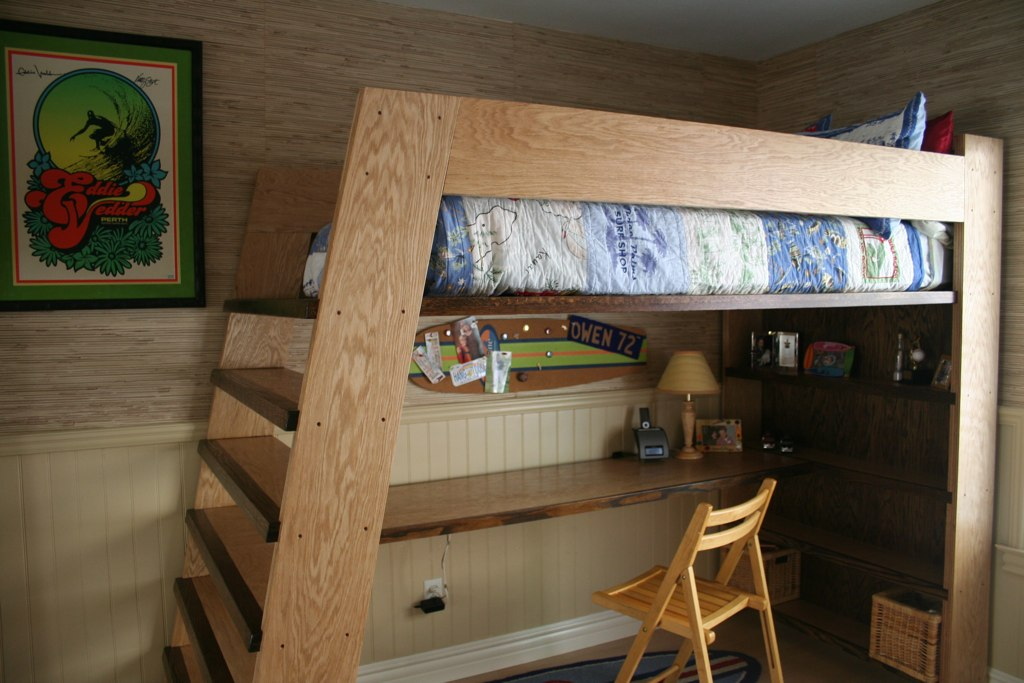 The Finished Product Owen S New Custom Loft Bed Built B