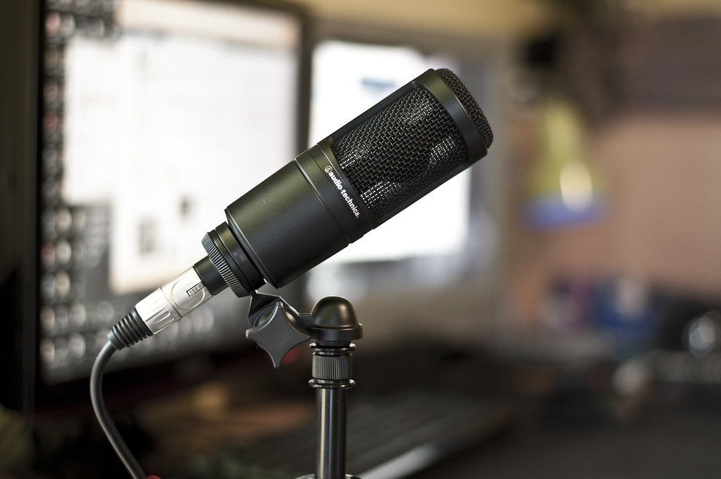 audio technica at2020 my new mic featuring bokeh ver2. Black Bedroom Furniture Sets. Home Design Ideas