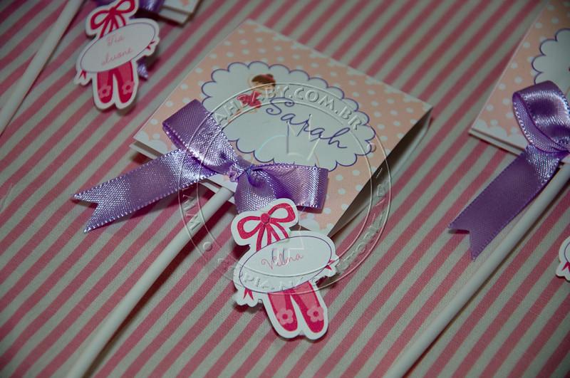 Convite Pirulito Tema Bailarina Trabalhamos Com Decoraçã Flickr