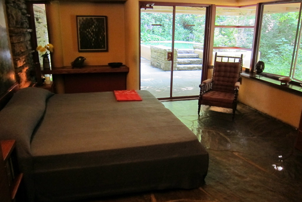 Pa mill run fallingwater guest house bedroom the bedf flickr - House interior images ...