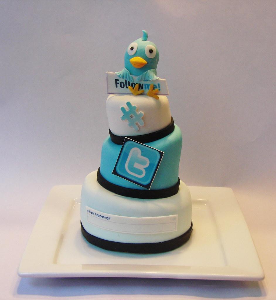 Twitter Addict 3 Tier mini cake   Amy Eilert   Flickr