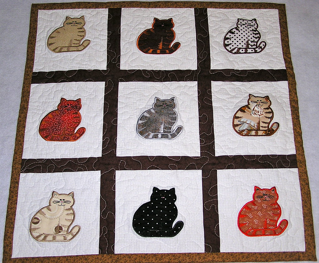 Applique Cat Quilt If you are a cat lover, then this quilt? Flickr