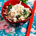 Simple Asian Chicken Salad with fried vermicelli