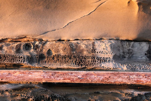 sandstone and log layers | by golly g