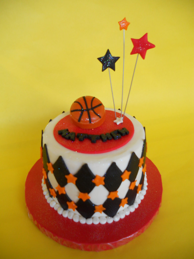 Small Images Of Birthday Cake : Mini Basketball Birthday Cake Amy Stella Flickr
