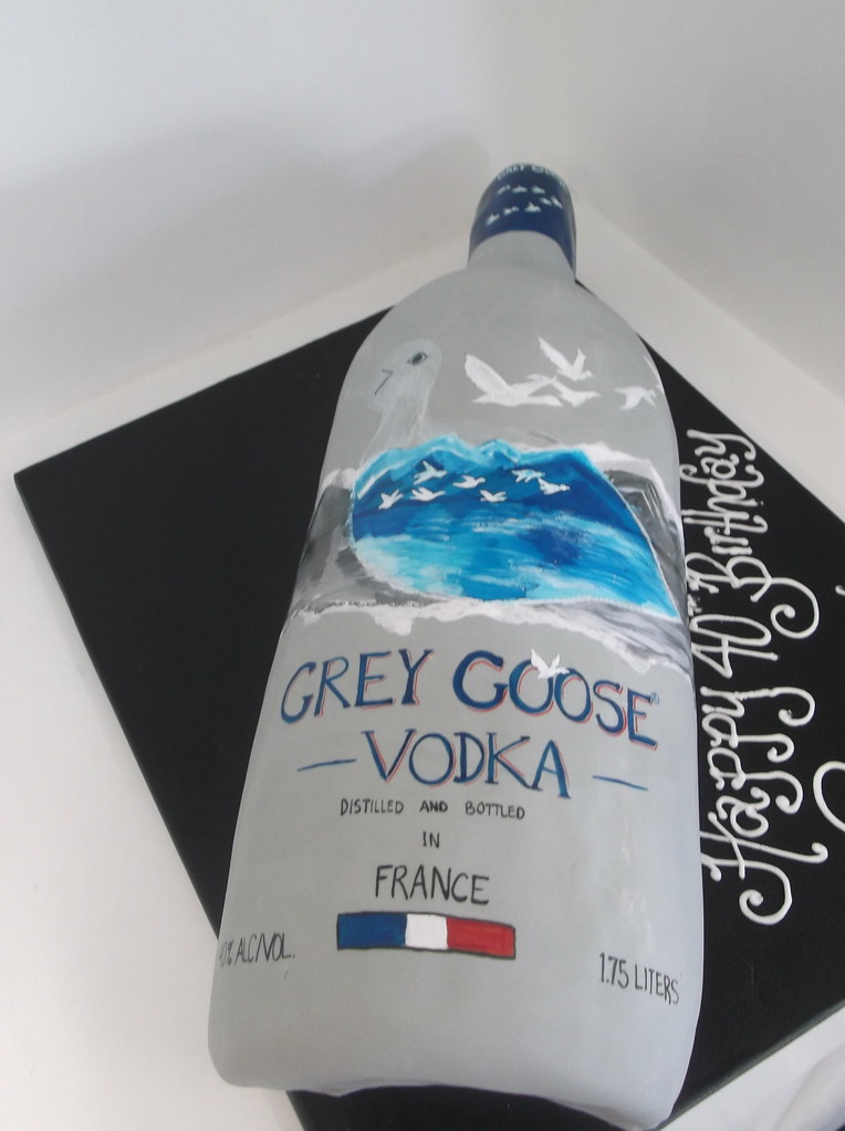 Hand Painted Grey Goose Cake 684 Www Asweetdesign Info