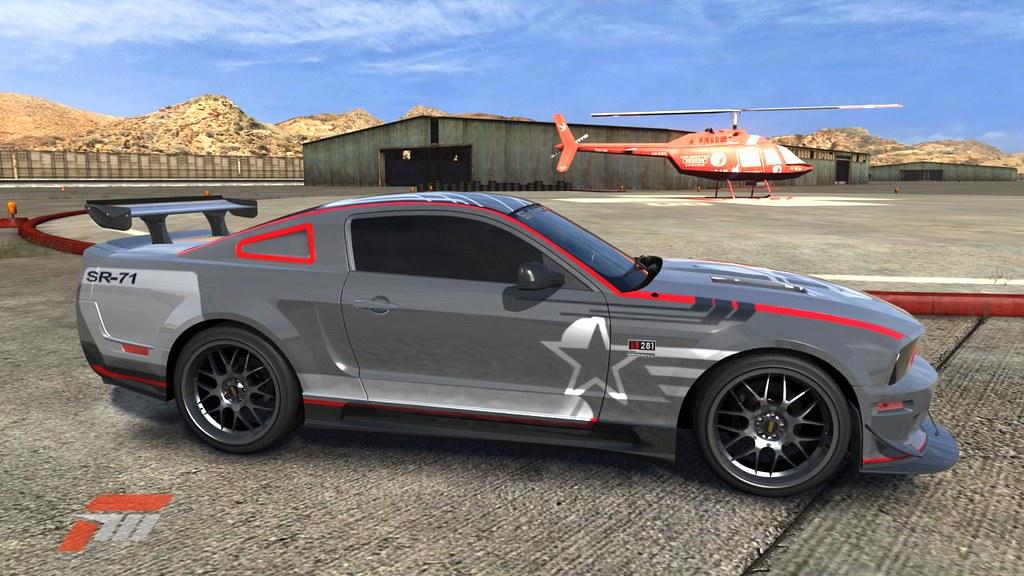 Saleen Replica Of The Shelby Roush Mustang Sr 71 Blackbird