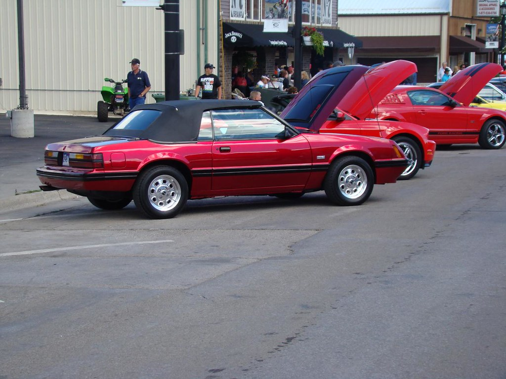 2007 Mustang >> Convertible Red Fox Body Mustang at the Sturgis, SD Mustan ...