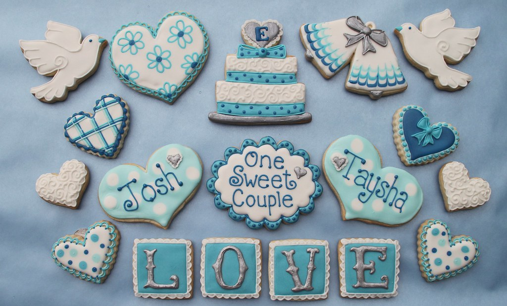 Wedding Cookies for a Candy Bar | These are part of the cook… | Flickr