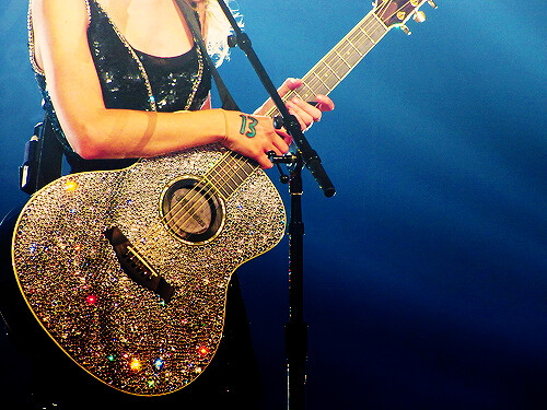 Sparkly Dress 13 Written On The Hand Sparkly Guitar Thi