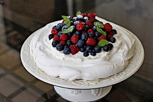 Fresh Berry Pavlova | by AZ Cookbook