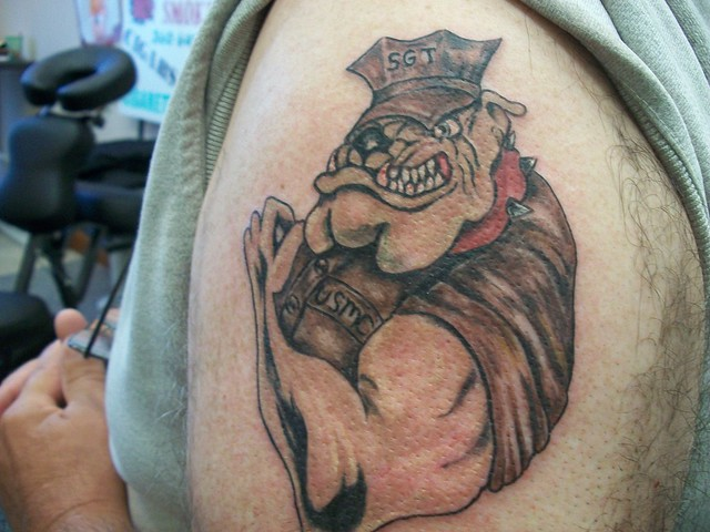 marines bulldog tattoo usmc bulldog flickr photo sharing 9584