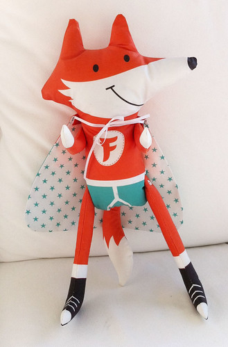 Fab Fox - Spoonflower softie contest entry | by happysewlucky