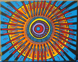 "Bang! Original Mandala Painting Transformative Art | by Stephanie ""Biffybeans"" Smith"