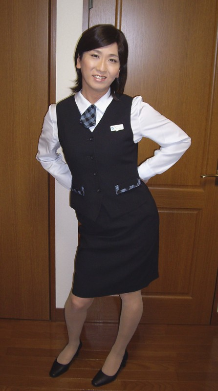 Office Uniform 1108 01 800 Crossdressing As A Office