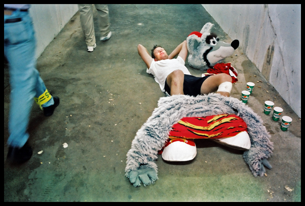 Kc Wolf Dan Meers Aka Kc Wolf Rests Outside The Chiefs