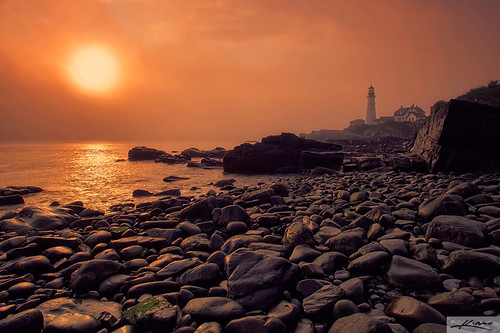 Foggy Morning at Portland Maine Head Lighthouse | by Captain Kimo