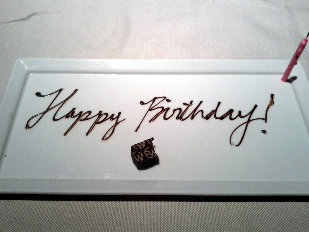 Alice S Happy Birthday Plate Wynn Steakhouse Wynn Hotel