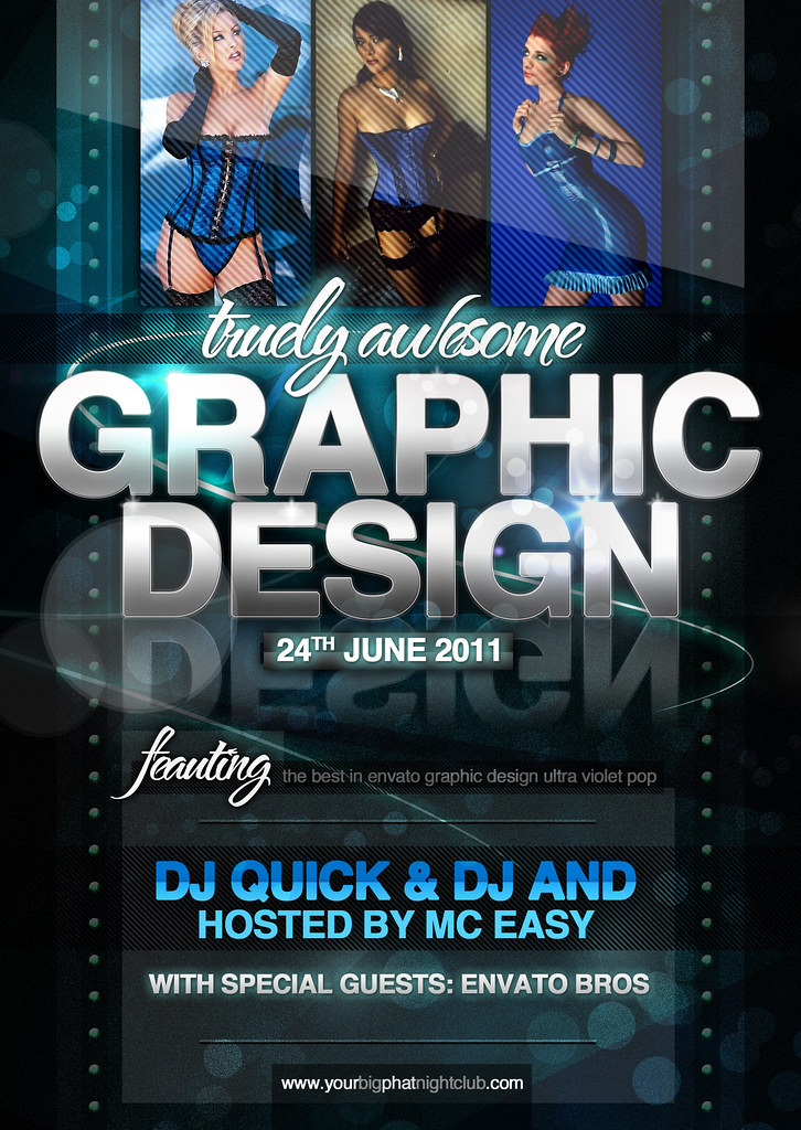 Graphic Design Nightclub Event Psd Flyer Template  Flickr