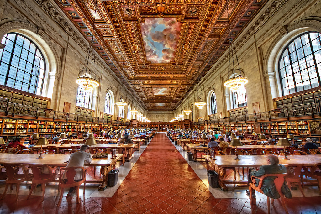 ... New York Public Library - The Rose Reading Room   by Matt Pasant
