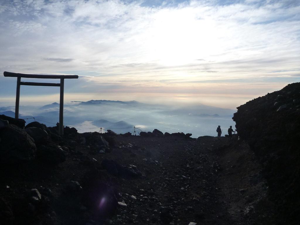 下山, 一合目から富士山に登る C...