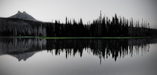 Mowich Lake & Three Fingered Jack reflection | by RickyB-Photography