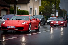 Italian touch in road.