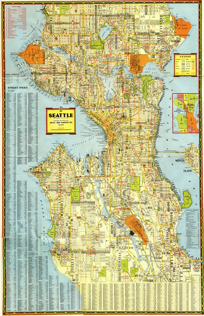 1942 Seattle Roadmap Kroll Note That This Local