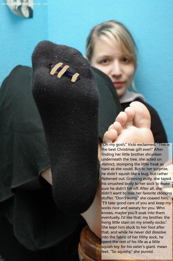 feet captions Giantess