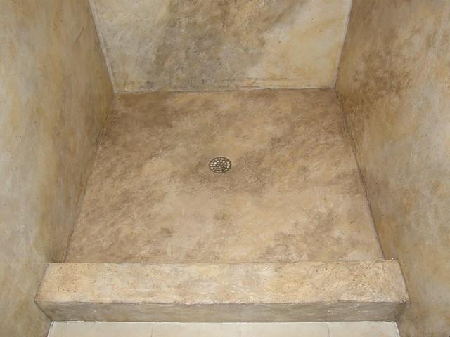 Concrete Shower Pan Impressive Restorations Flickr