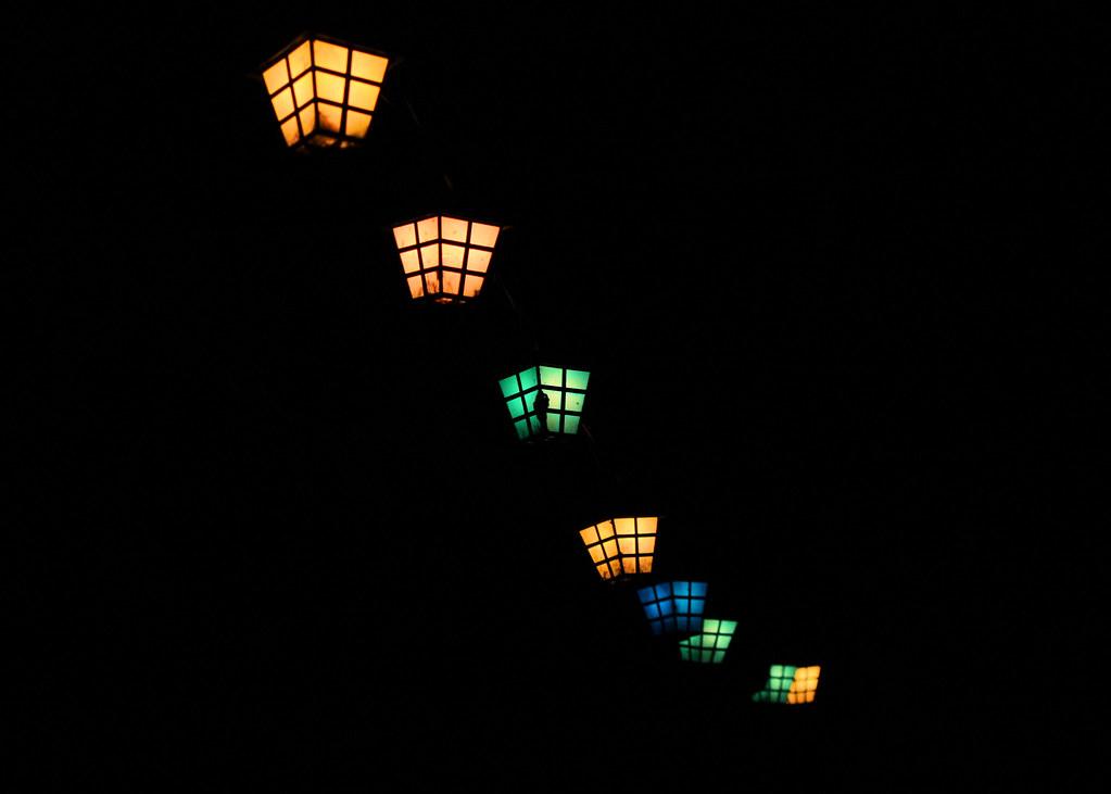 patio lanterns at night by freezin - Patio Lanterns