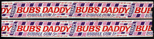 Donruss - Bub's Daddy - Grape - 5-cent bubble gum pack wrapper - 1970's | by JasonLiebig
