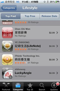 (狂賀)剛上架的LuckyAngle榮獲AppStore的 LifeStyle類別Top Paid第六名… | by zhihmeng