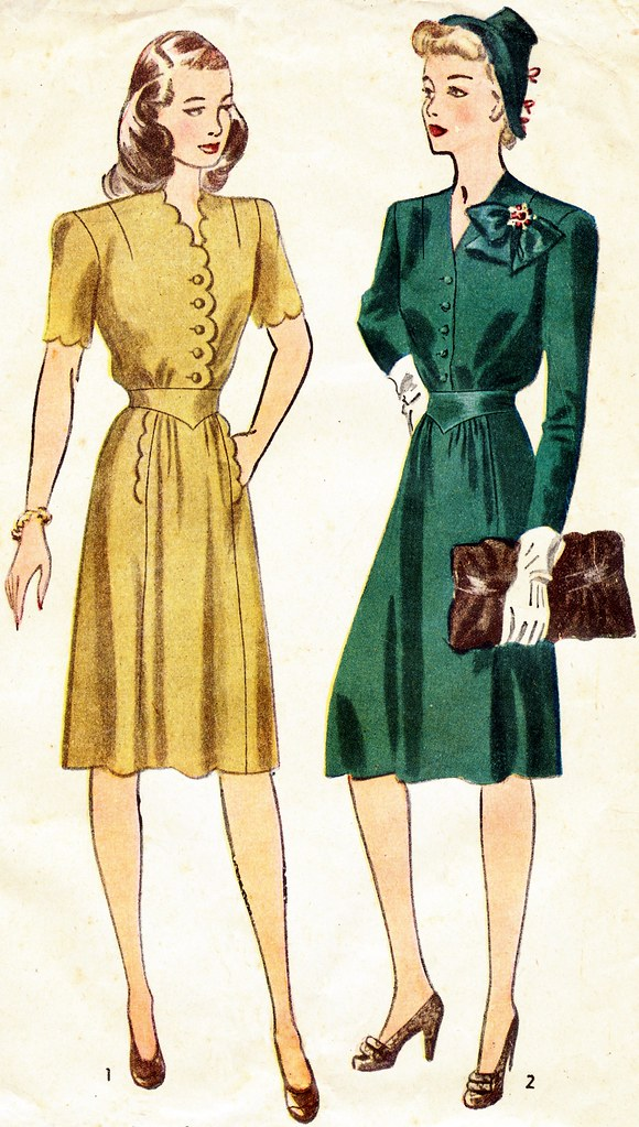 Post War Fashion Today 40s Fashion: Images From 1940s Sewing Pattern. Funny