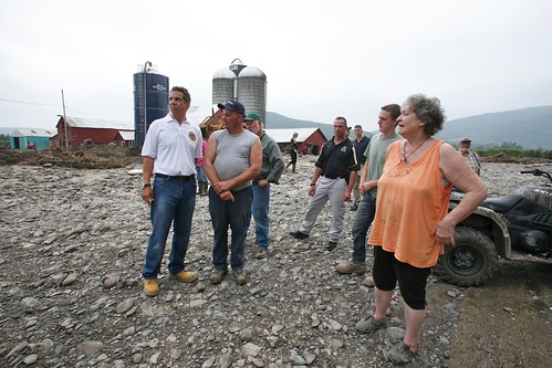 Governor Cuomo views storm damage with Secretary of Agriculture Tom Vilsack and Senator Gillibrand in Middleburgh | by governorandrewcuomo