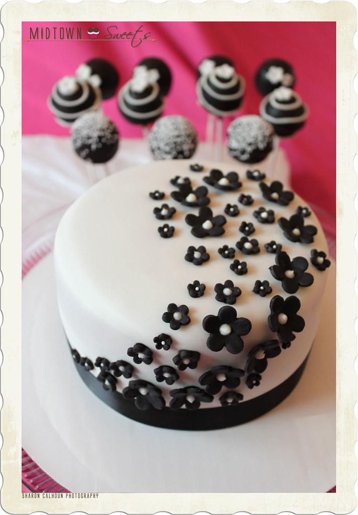Modern Black White Cake Pops Cake Midtown Sweets Flickr