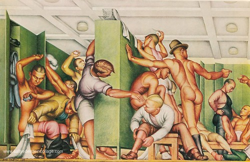 NYC West Side YMCA -Locker room illustration 1930's | by Retroarama