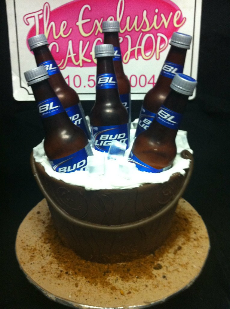 ... Bud Light Beer Bucket Cake | By Exclusive Cake Shop