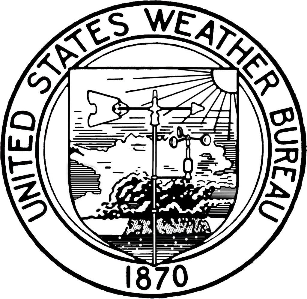 vintage united states weather bureau logo i spent hours re flickr. Black Bedroom Furniture Sets. Home Design Ideas