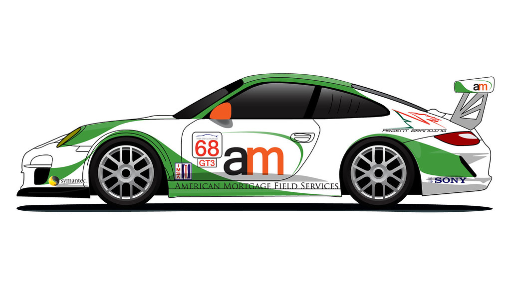 Porsche 911 Gt3 Cup Livery Proposal For American Mortgage