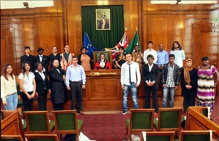 Group shot, Citizenship Ceremony, Hackney Town Hall, Hackney, London, UK.tif | by gruntzooki