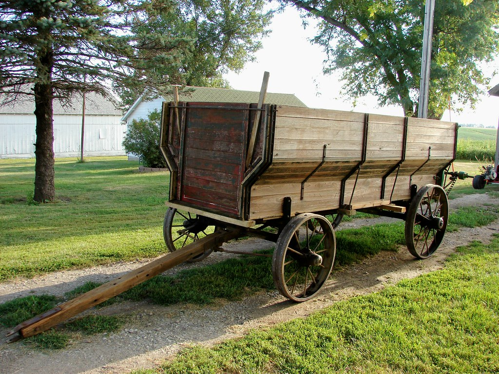 John Deere Wagons Flowered : John deere wagon just picked this up at an