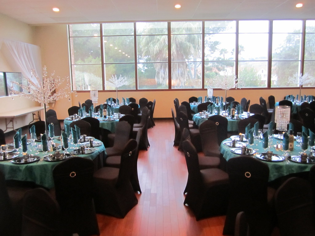 Teal Black And White Wedding Reception Sbd Events Sbd Events