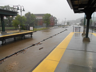 Ossining station under water coming from Sing Sing Creek. | by MTAPhotos