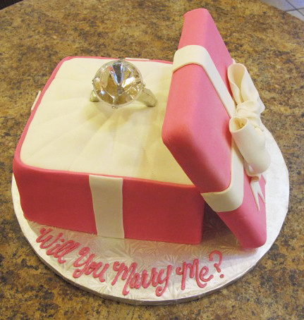 Engagement ring box 800070 creative cakes tinley park for Cute engagement ring boxes
