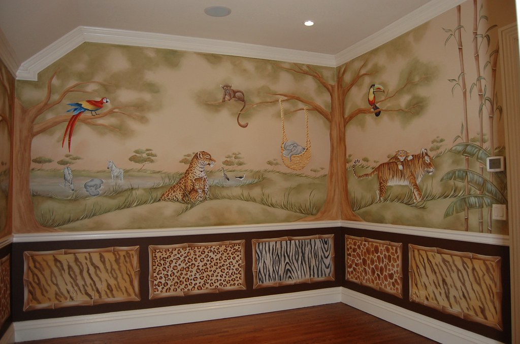 World Map Themed Baby Room