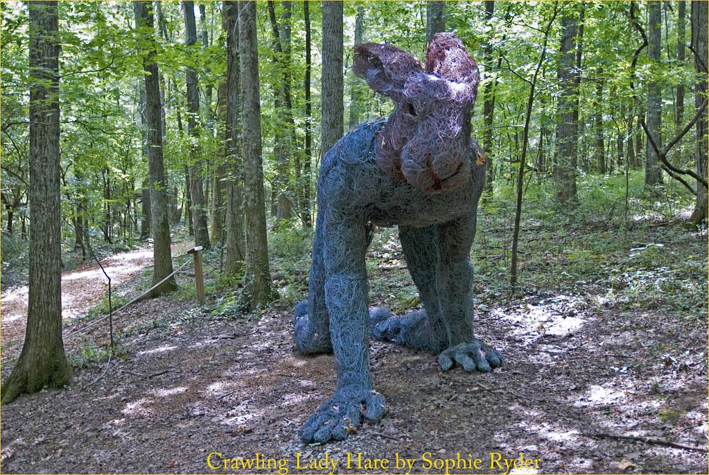 Merveilleux ... Crawling Lady Hare By Sophie Ryder    Carell Woodland Sculpture Trail  Cheekwood Botanical Garden Nashville