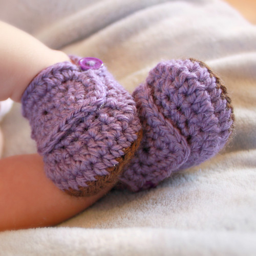 Easy Crochet Baby Shoes